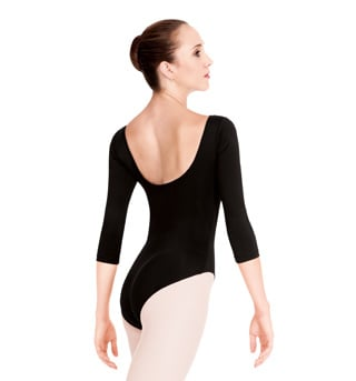 Adult 3/4 Sleeve High Cut Leotard - Style No N8726