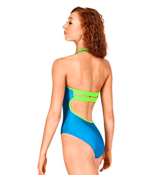 Adult Two-Tone Halter Leotard - Style No N8734