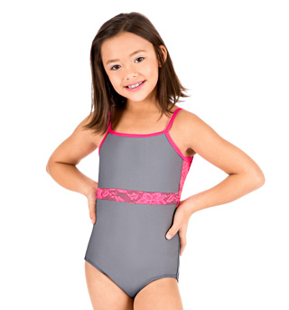 Child Lace Inset Camisole Leotard - Style No N8748C