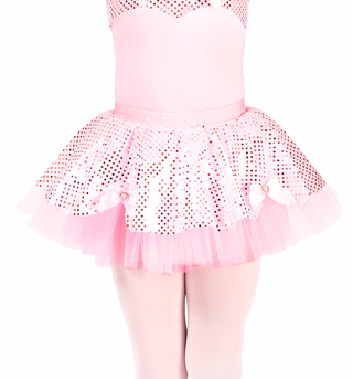 Child Sequin Dot Tutu Skirt - Style No N8752C