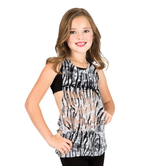 Child Zebra Lace Tank Top - Style No N8756C