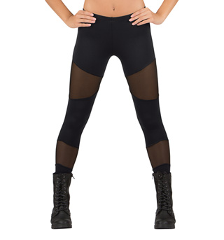Adult Mesh Insert Leggings - Style No N8785
