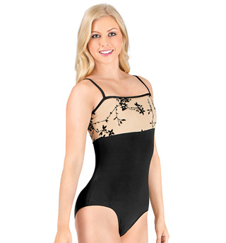 Adult Flocked Camisole Leotard - Style No NAB101