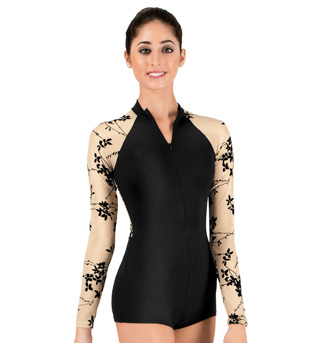 Adult Flocked Shorty Unitard - Style No NAB103