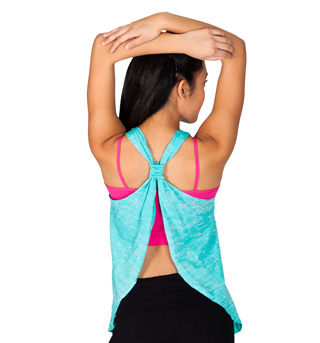 Relaxed Fit Open Back Tank Top - Style No NT265x
