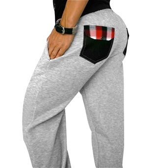 Plaid Pocket Tabby Sweats - Style No NT431x