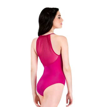 Adult Power Mesh Halter Leotard - Style No P1000