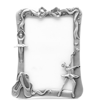 Pewter Ballet Picture Frame - Style No P136846