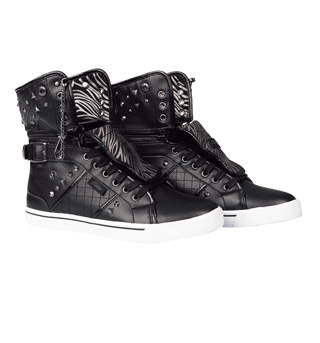 Adult Sugar Rush Black High Top Sneakers - Style No PA124062