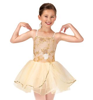 Child Beaded Flower Camisole Tutu Dress - Style No PB2013C