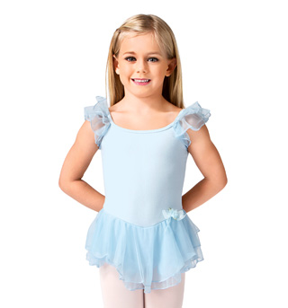 Child Double Flutter Sleeve Dress - Style No PB401C