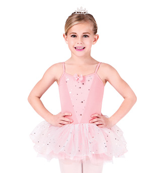 Child Glitter Flower Camisole Tutu Dress - Style No PB412C
