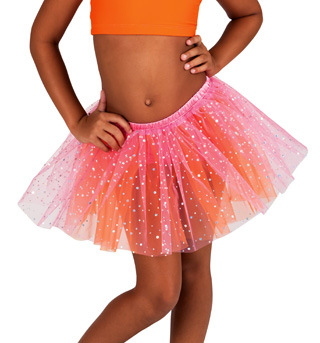 Child Two-Tone Glitter Dot Tutu - Style No PC009
