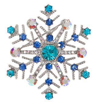 Rhinestone Snowflake Pin - Style No PN4044x