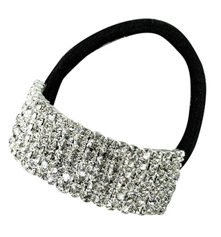 Crystal Cuff Ponytail Binders Small - Style No RU057