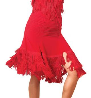 Adult 6 Panel Fringe Ballroom Skirt - Style No S624
