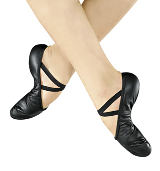 Adult Leather Split-Sole Ballet Slippers - Style No SD10