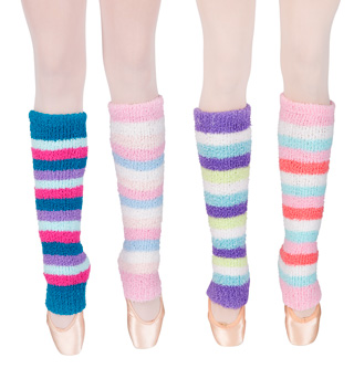 Tri Colored Pamper Legwarmers - Style No SL7758x