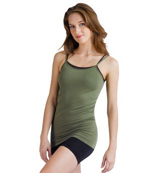 Adult Long Camisole Top With Adjustable Straps - Style No T03L