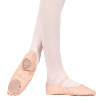 Child Leather Split-Sole Ballet Shoes - Style No T2700C