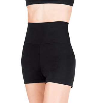 Adult Team Basic High Waist Dance Shorts - Style No TB131