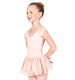 Child Short Sleeve Dance Dress - Style No TH5105C