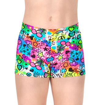 Child Psychedelic Dance Shorts - Style No TT7078C