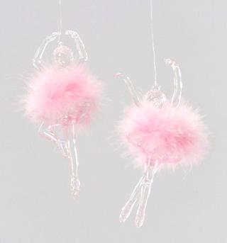 Marabou Puff Ballerina Ornament - Style No W0690