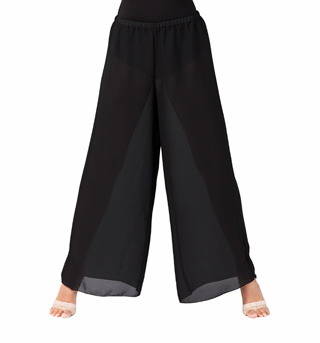 Plus Size Black Palazzo Worship Pant - Style No WC100PBLK