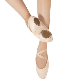 Adult Canvas Split-Sole Ballet Slippers - Style No WM128