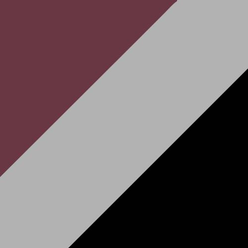 Maroon/Silver/Black