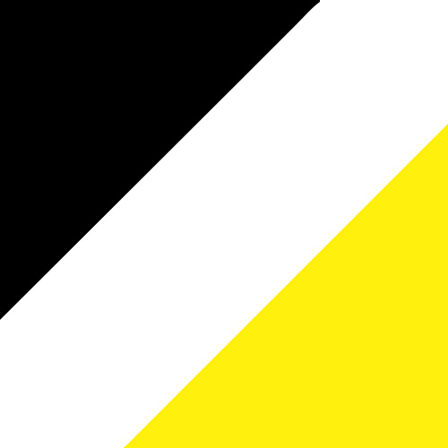 Black/White/Power Yellow