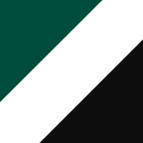Dark Green/White/Black