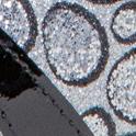 Black Patent Leather/Silver Sparkle