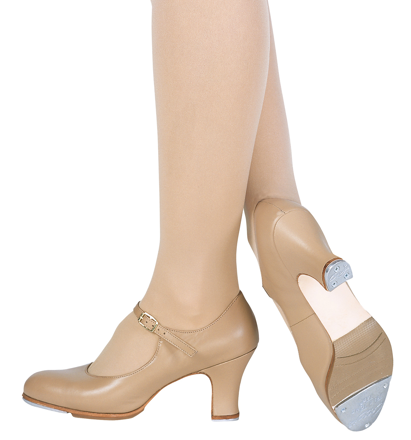 Heeled Tan Tap Shoes