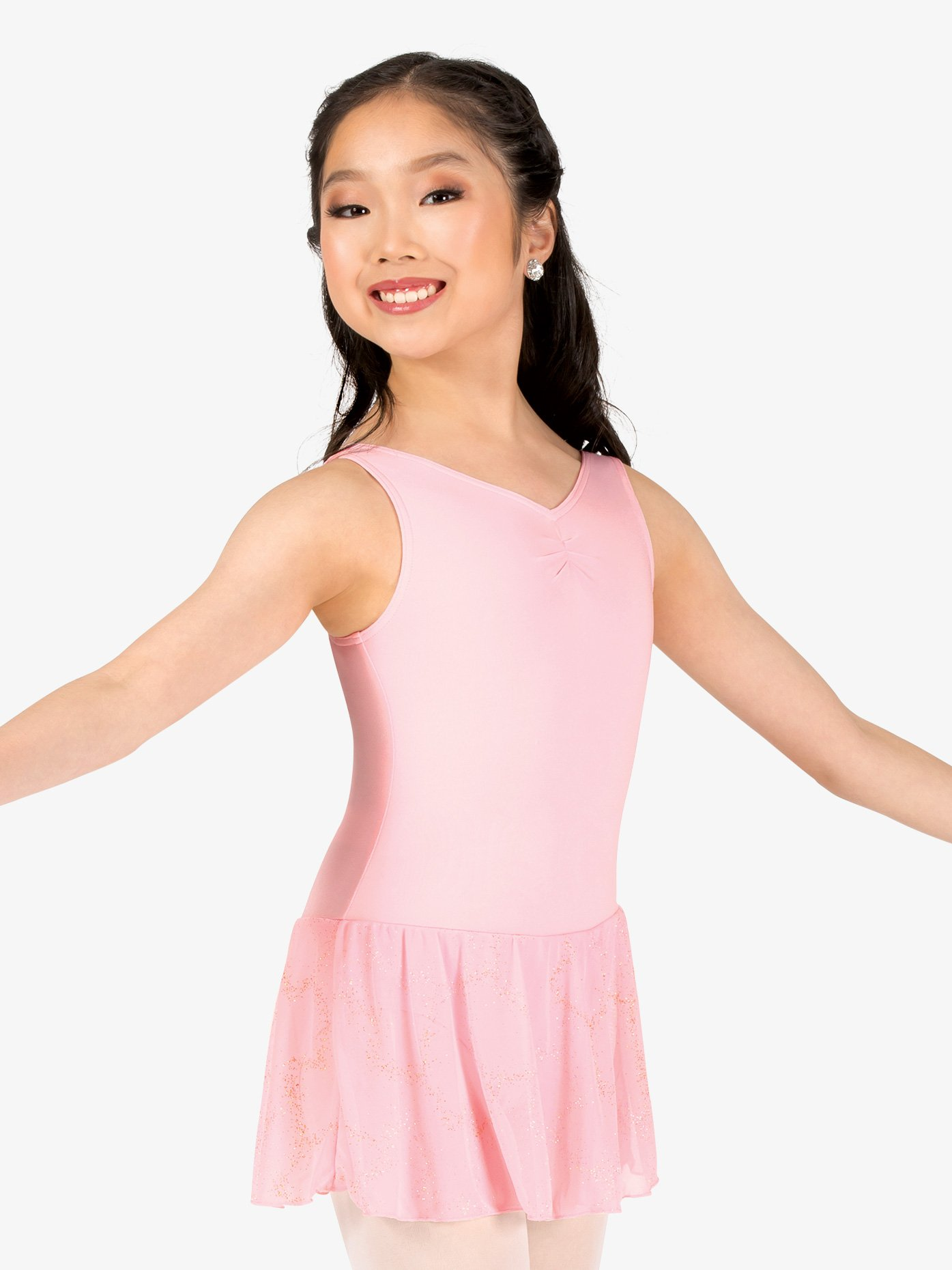 Capezio Girls Pinch V-Front Tank Ballet Dress 11309C