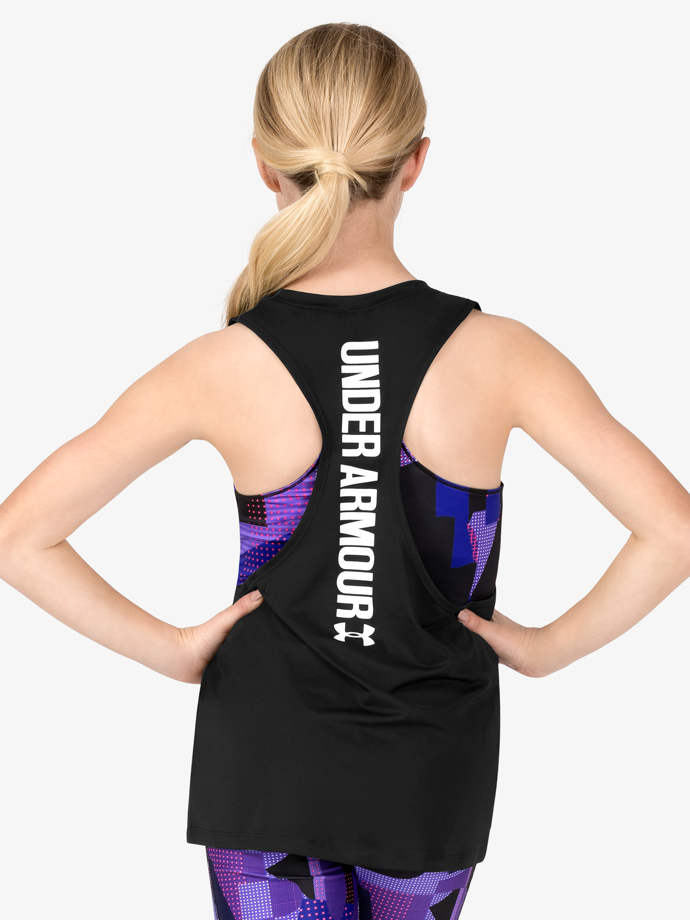 Under Armour Girls Attached Bra Active Tank Top 1298832
