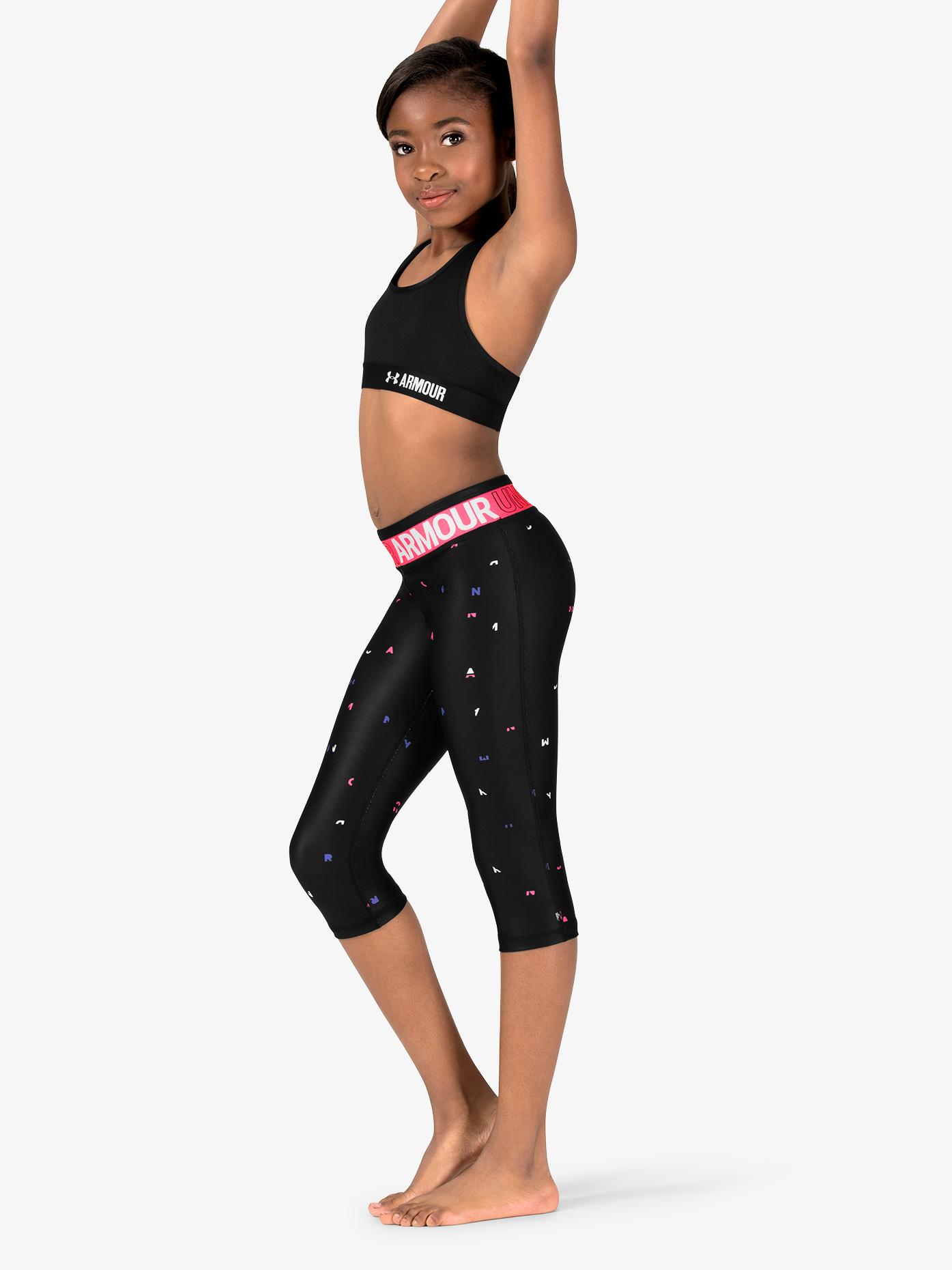 Under Armour Girls Fitness HeatGear Armour Capri Length Leggings 1305645