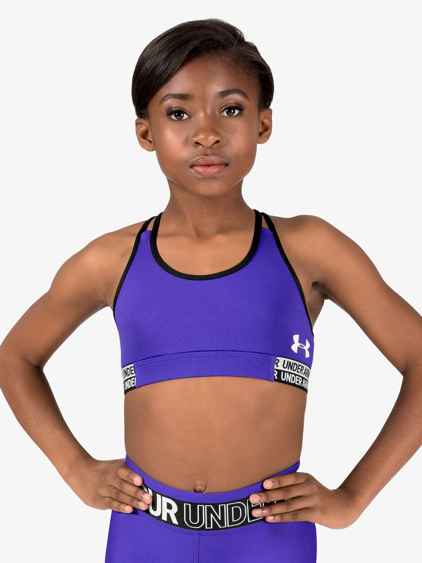 Under Armour Girls Solid Colored Split Camisole Racerback Sports Bra 1305726