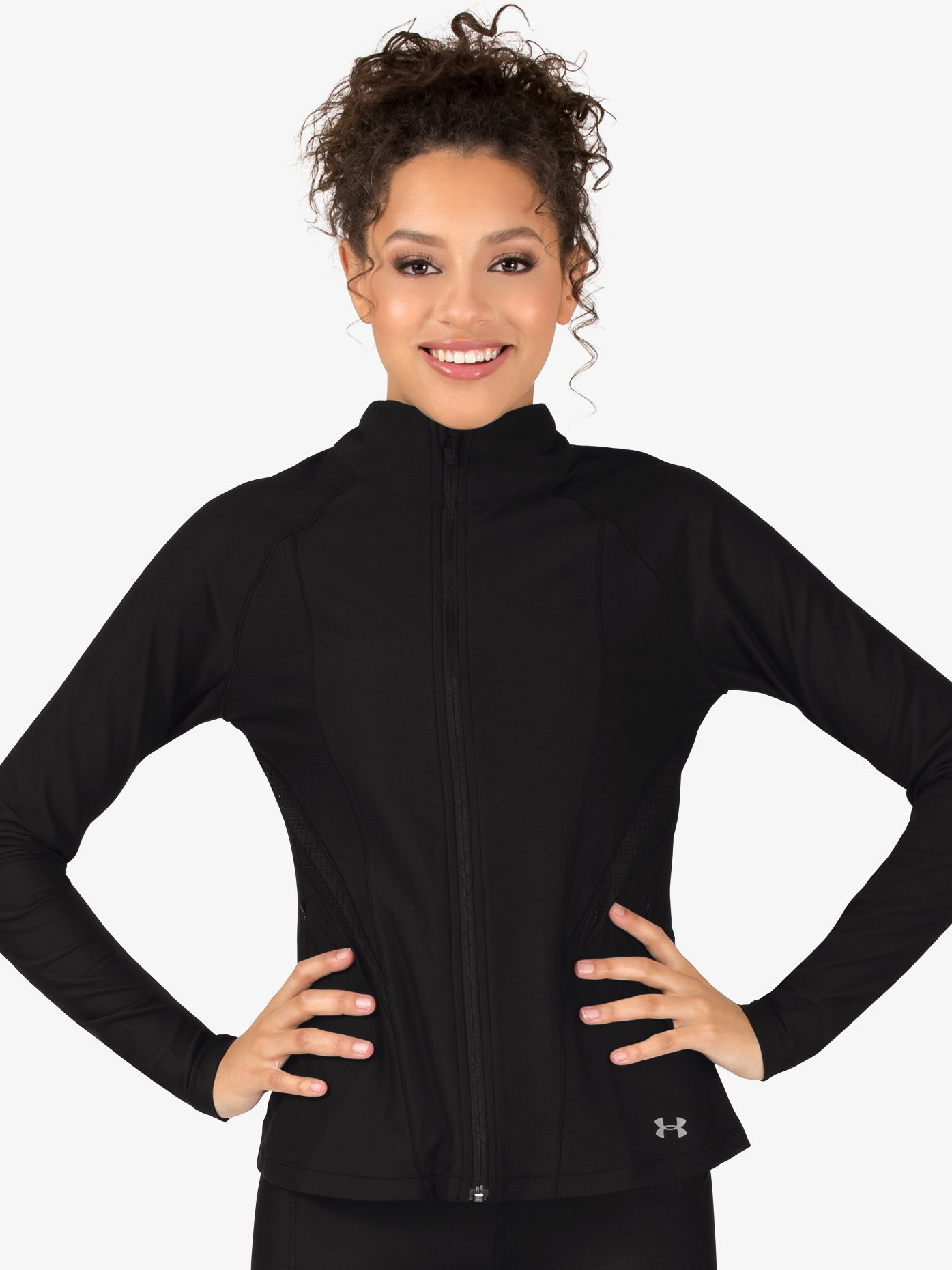 Under Armour Womens Mock Neck Long Sleeve Workout Jacket 1314544