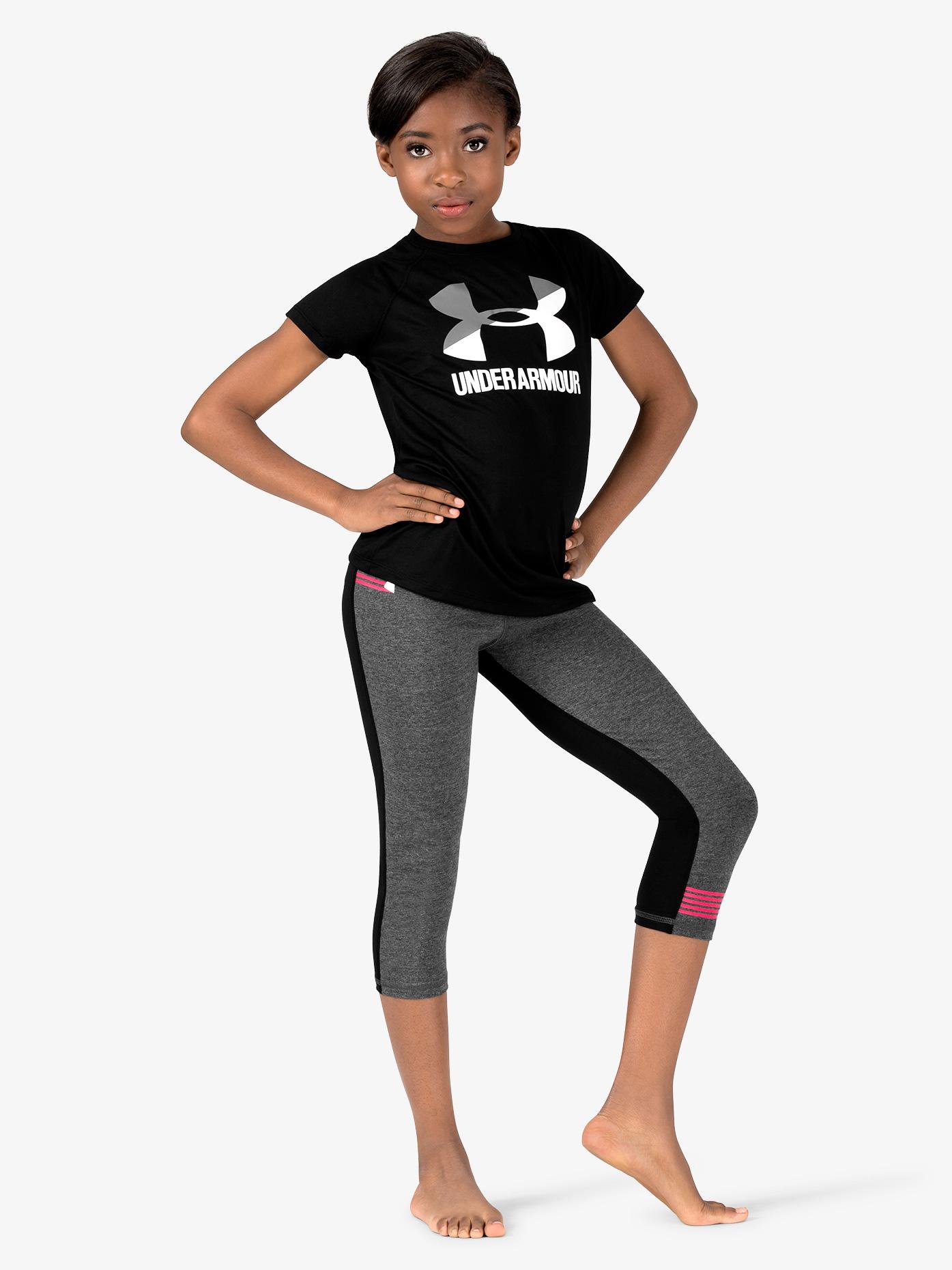 Under Armour Girls Workout Soft Knit Capri Leggings 1320084