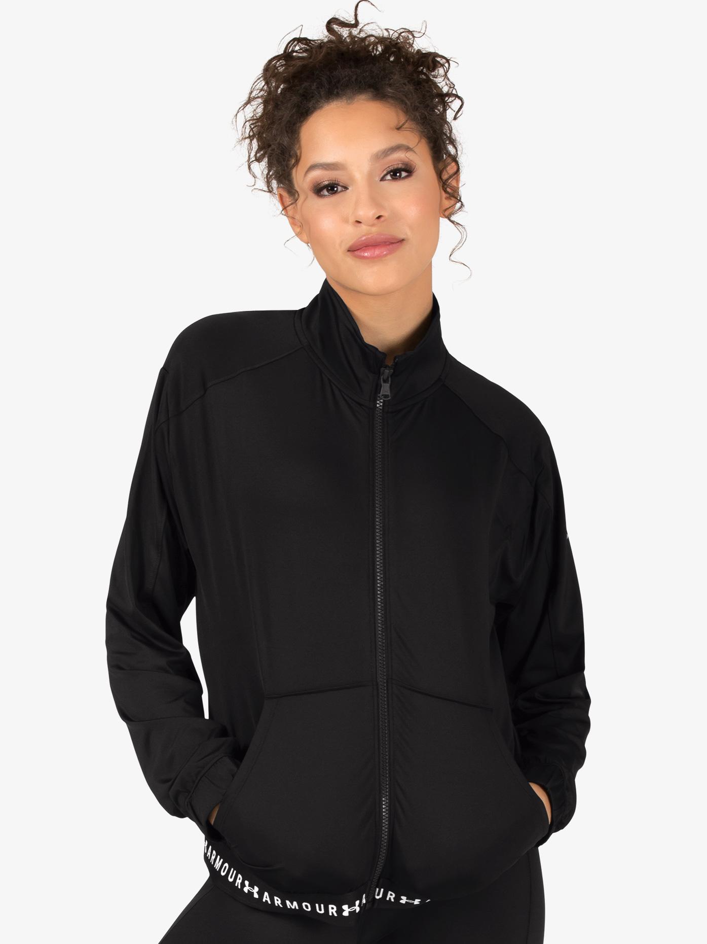 Under Armour Womens Logo Print Full Zip Workout Jacket 1320589