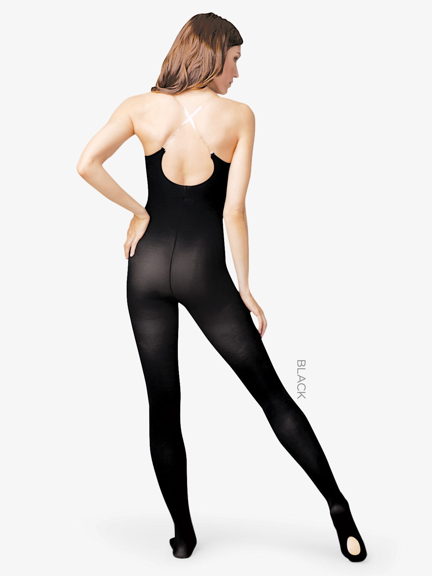 Capezio Adult Clear Strap Body Tights 1811W