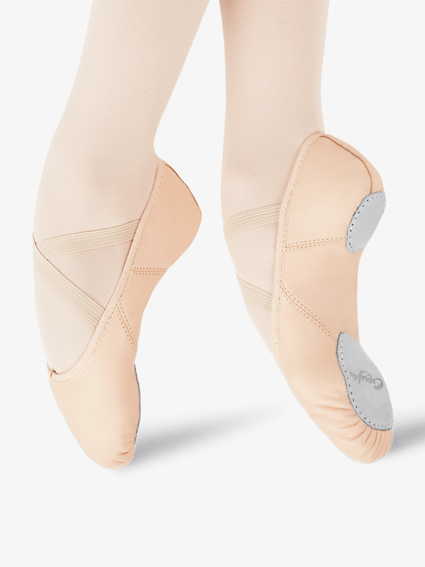 Capezio Adult Juliet Leather Split-Sole Ballet Shoes 2027