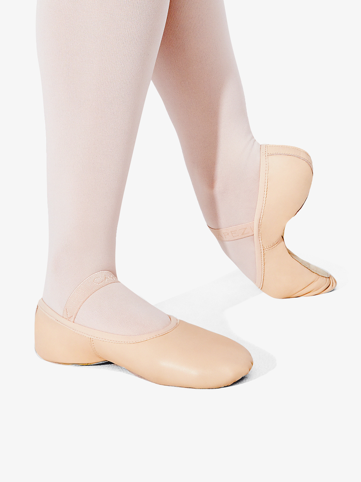 Capezio Girls Lily Full Sole Leather Ballet Shoes 212C