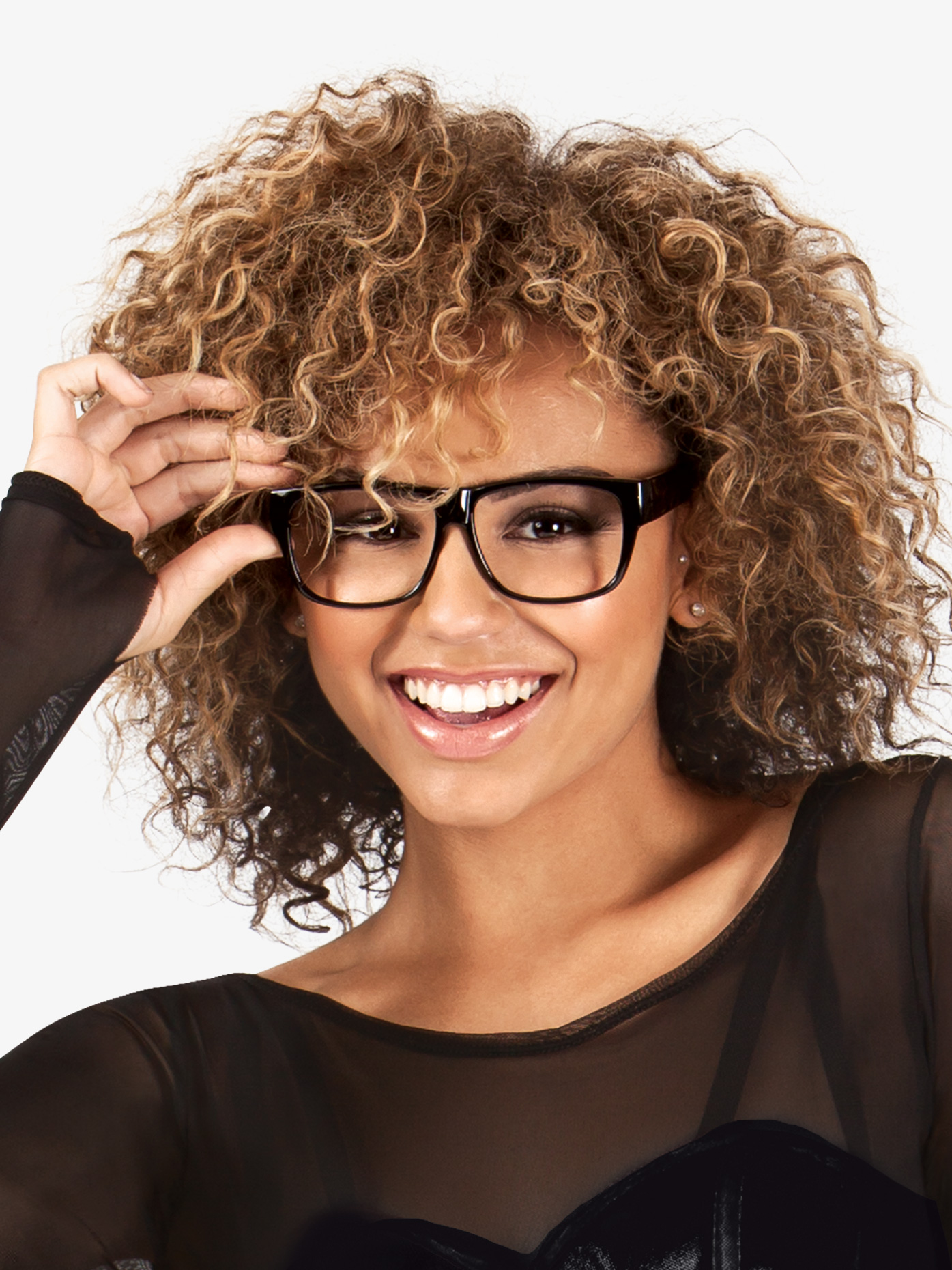 Double Platinum Black Glasses 24141