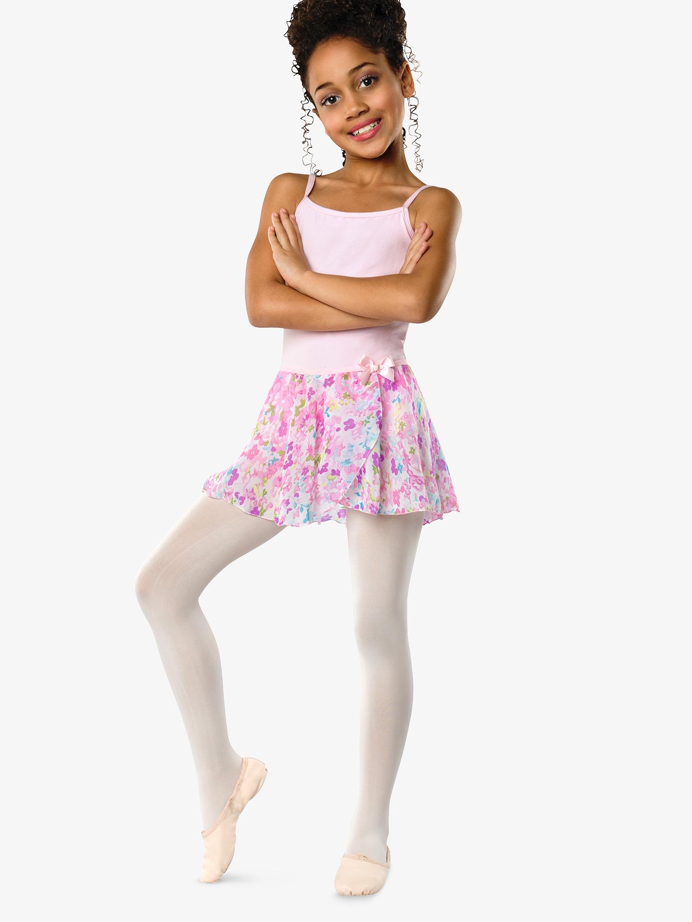 Danznmotion Girls Pastel Floral Pull-On Skirt 2605C