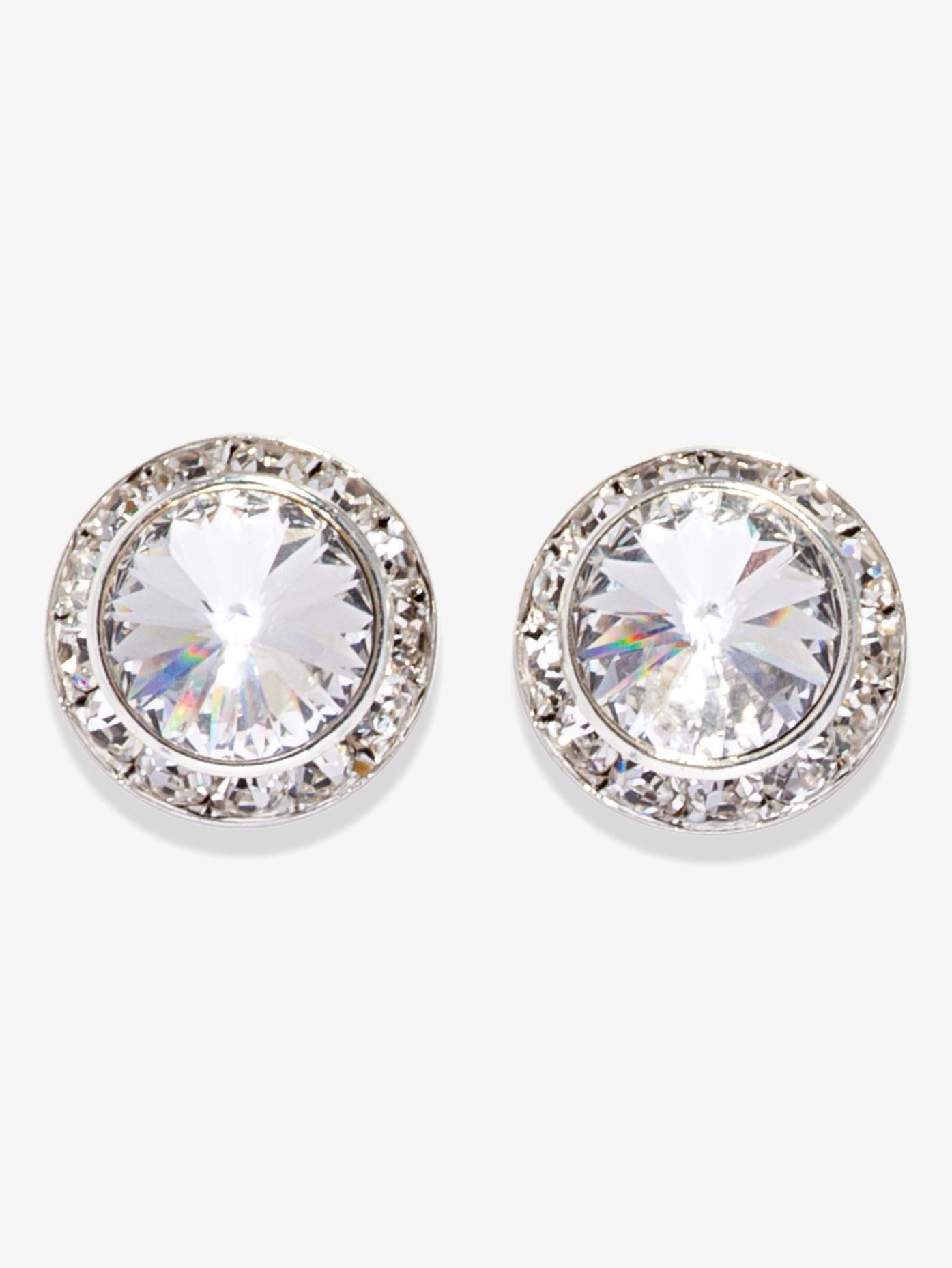 20mm Pierced Swarovski Crystal Earrings Style No 2708 Loading Zoom