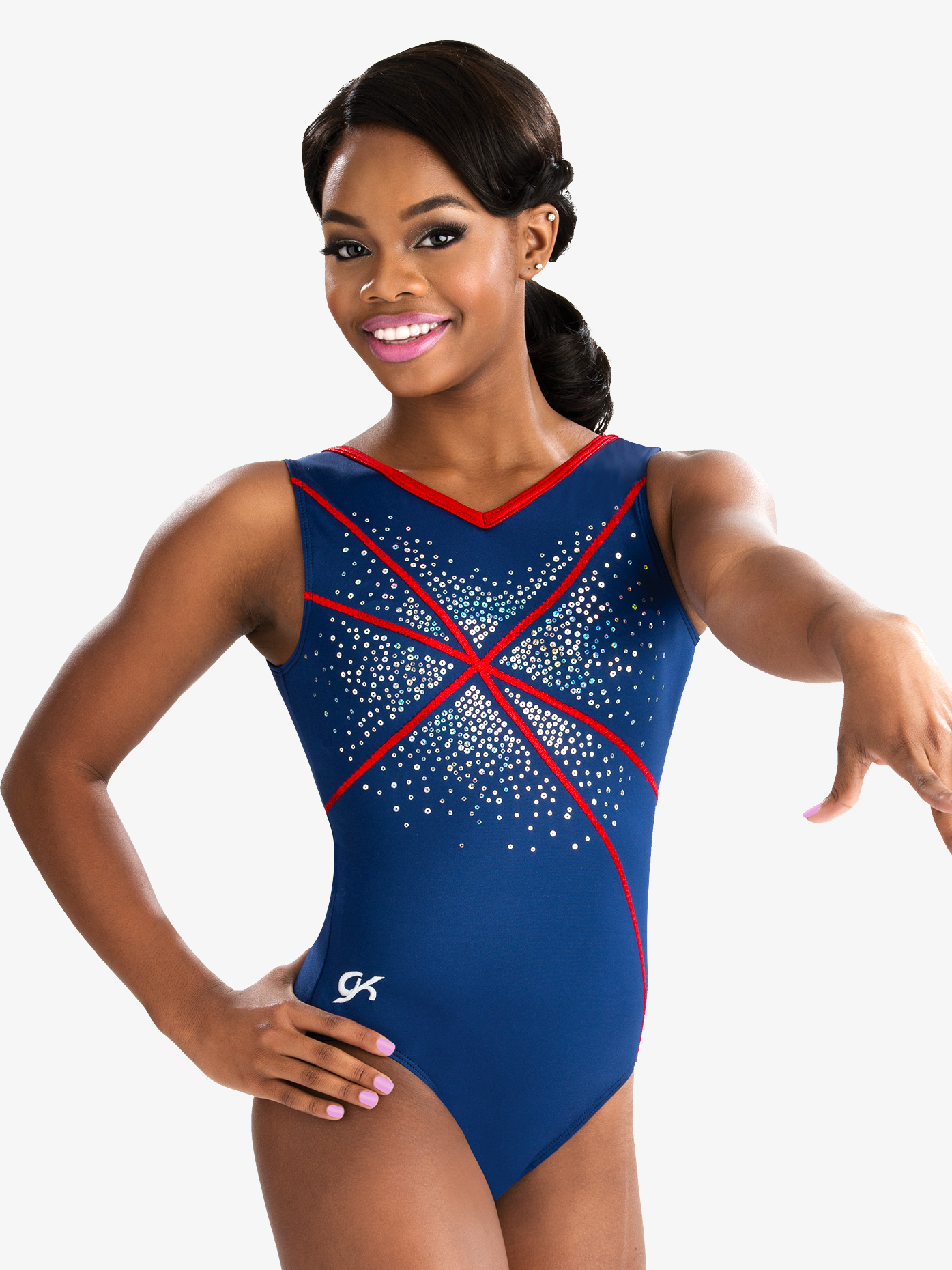 GK Elite Girls Sequinz Fireworks Tank Leotard 3732C