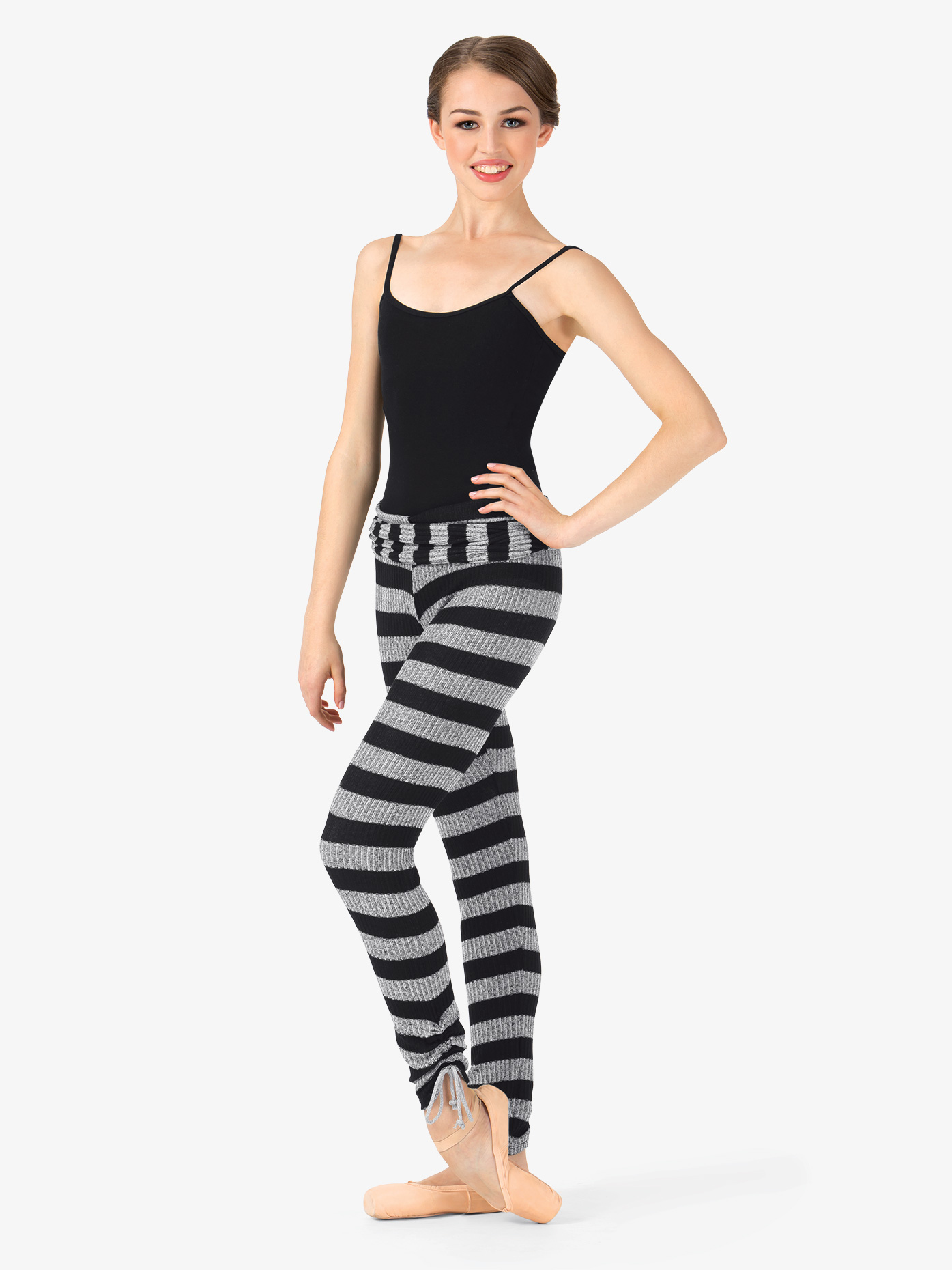 Body Wrappers Adult Striped Knit Warm Up Pants 5171